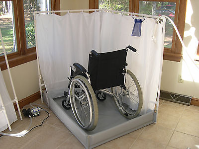 portable shower fits wheelchairs