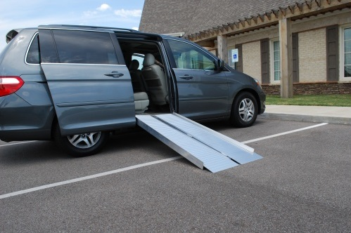 portable wheelchair ramp for vehicle